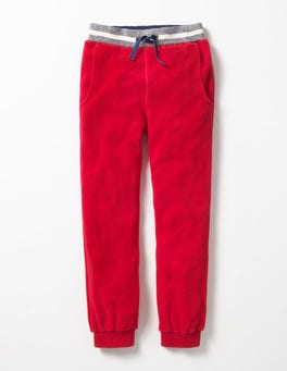 Engine Red Microfleece Joggers