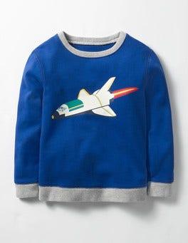 Howlin Blue Rocket Glowing Space Sweatshirt