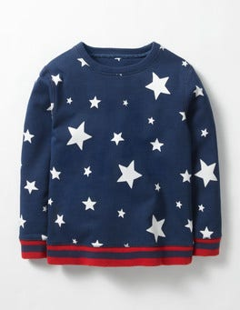 Navy Stars Glowing Space Sweatshirt