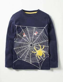 Navy Spider Spooky Glow T-shirt