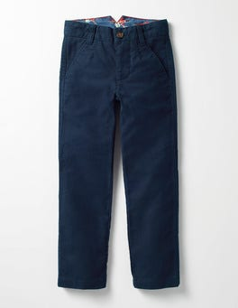 Navy Moleskin Smart Trousers