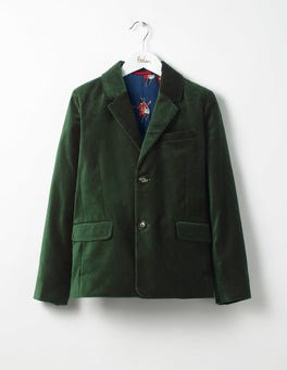 Wellington Green Velvet Party Blazer