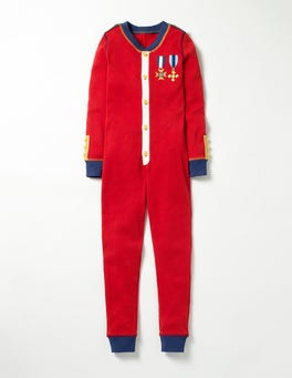 Beatnik Red Solider Festive Cosy All-in-one