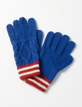 Klein Blue Knitted Gloves