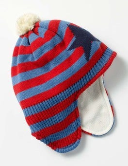 Beatnik Red/Ocean Blue Fleece-lined Hat