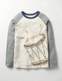 Ecru Drum Festive Raglan T-shirt