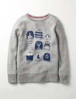 Grey Marl Christmas Jumpers Festive Sweatshirt