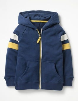 Sports Stripe Zip-up Hoodie
