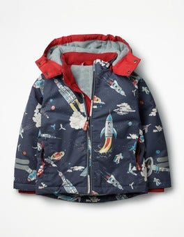 Asphalt Grey Outer Space Fleece-lined Anorak