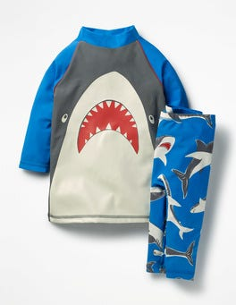 Pool Blue Sharks Surf Suit
