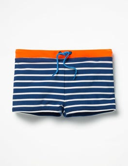 Beacon Blue/Ivory Swim Trunks