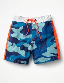 Aqua Blue Camo Poolside Shorts
