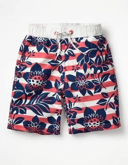 Jam Red Hawaiian Board Shorts