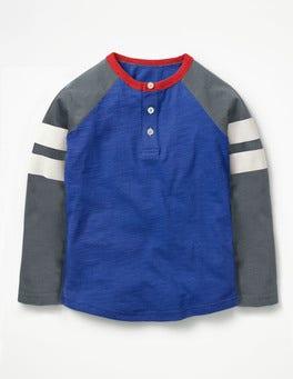 Sporty Stripe Raglan Henley