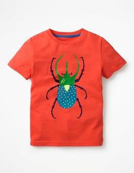 Melon Crush Red Bug Classic Printed T-Shirt
