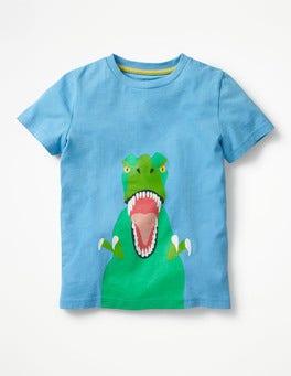 Surfboard Blue T-Rex Classic Printed T-Shirt