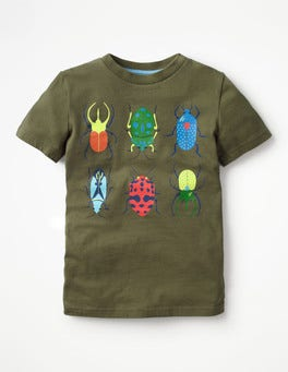 Khaki Green Bugs Rock 'n' Crawl Graphic T-shirt