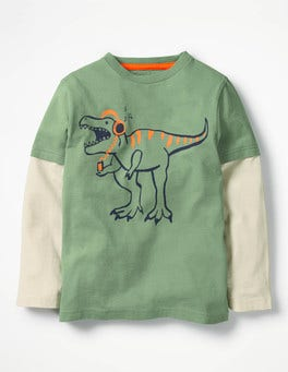 Bamboo Green Layered Party Animal T-shirt