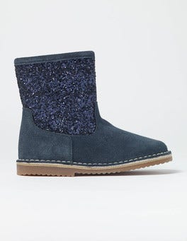 Glitter Suede Boots