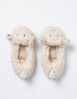 Ecru Lamb Slippers
