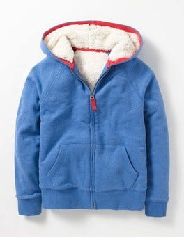 Mountain Blue Marl Shaggy-lined Hoodie