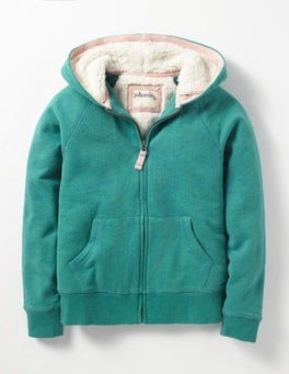 Holly Green Marl Shaggy-lined Hoodie