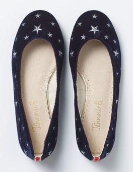 Navy Ballet Flats
