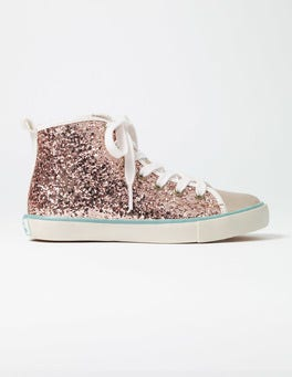 Rose Gold Glitter High Tops