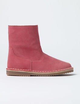 Rose Blossom Pink Short Leather Boots