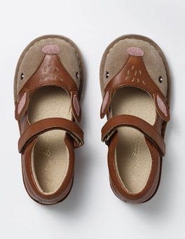 Tan Deer Leather Mary Janes