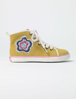 Sunshine Yellow Appliqué High Tops