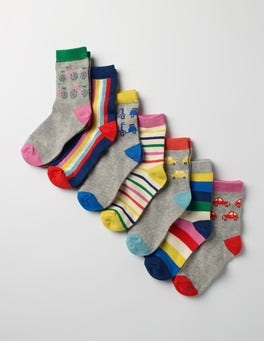 Transport Rainbow 7 Pack Sock Box