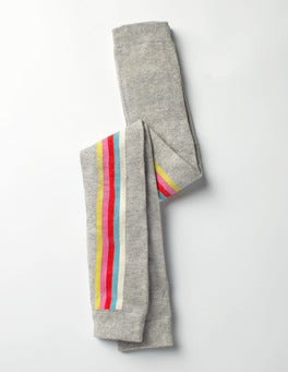 Grey Marl Rainbow Patterned Footless Tights