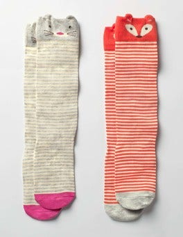 2 Pack Novelty Knee Socks
