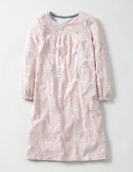 Pink Woodland Stencil Printed Nightie