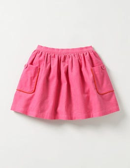 Dragonfruit Pink Pocket Cord Skirt