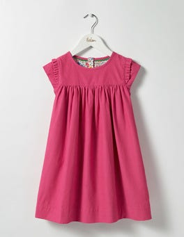 Honeysuckle Pink Pretty Cord Dress