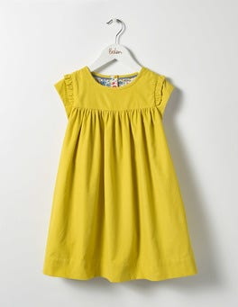 Sweetcorn Yellow Pretty Cord Dress