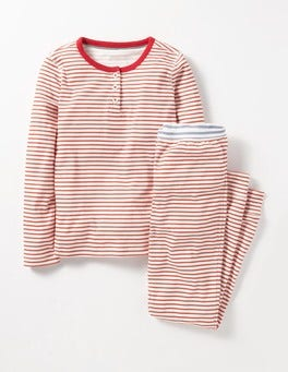 Jam Red/Ivory Henley Pyjama Set