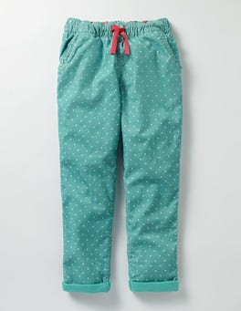 Duck Egg Blue Pin Spot Pull-on Trouser