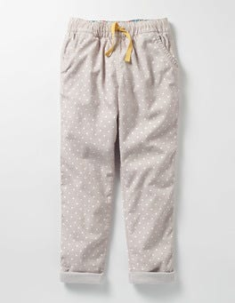 Shale Grey Pin Spot Pull-on Trouser