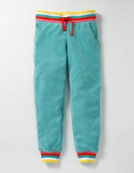 Duck Egg Blue Velour Sweatpants