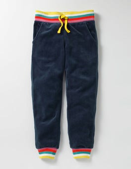 School Navy Velour Sweatpants
