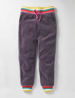 Misty Purple Velour Sweatpants