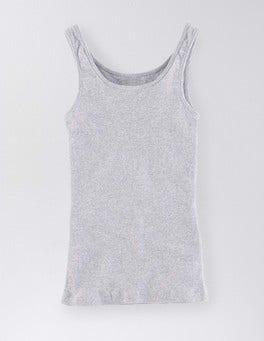 Grey Marl Slim Rib Vest