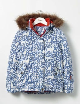 Bluebell Blue Woodland Stencil All-weather Waterproof Jacket