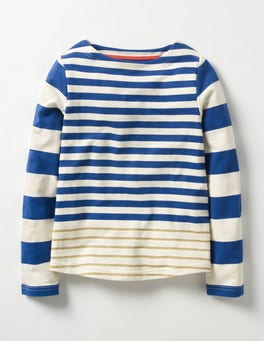 Klein Blue/Gold Sparkly Striped T-shirt