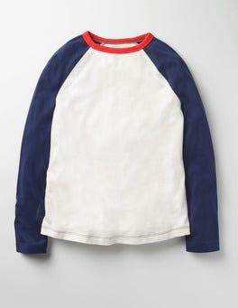 Ecru/Navy Raglan T-shirt