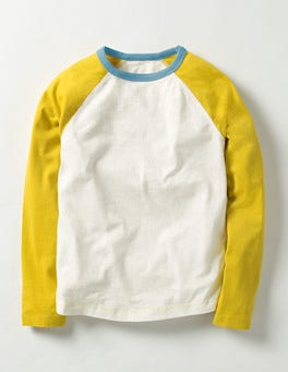 Ecru/Yellow Raglan T-shirt
