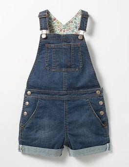 Mid Vintage Short Denim Overalls